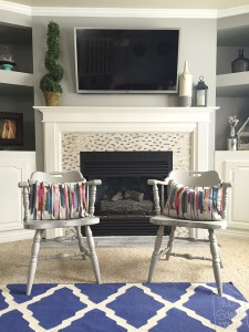 Chalk Paint Chairs Refinished - Family Room