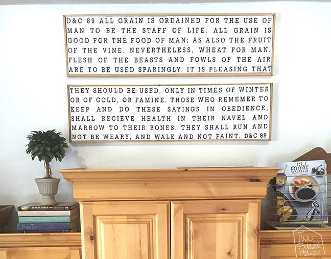 Wooden Framed Canvas – The Word of Wisdom