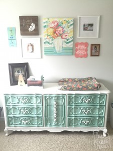 Nursery Changing Station with Laminate Dresser Makeover