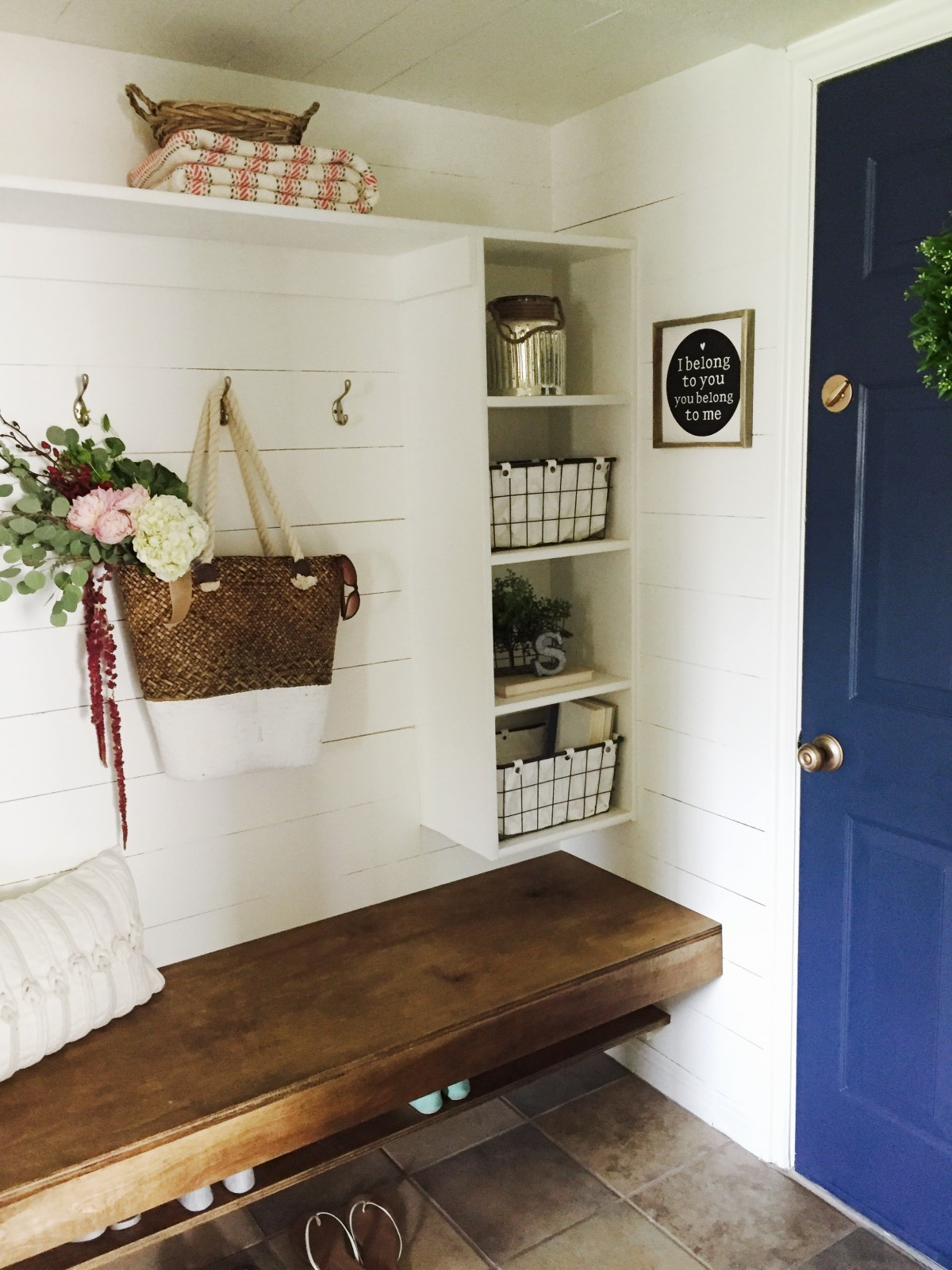 Closet To Mudroom Tutorial For How Turn A Hallway Into Gorgeous And