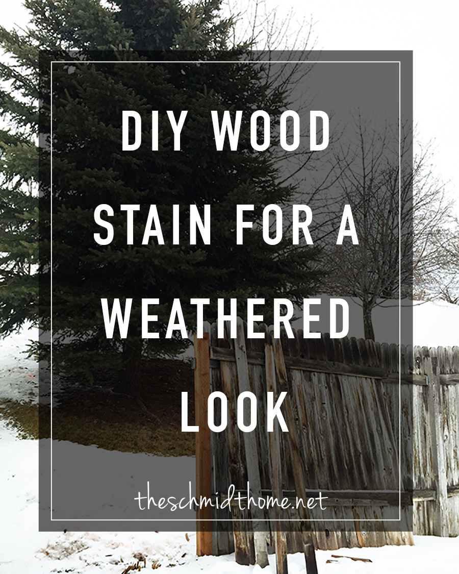 How to make homemade wood stain for a weathered wood look. Creates that 'barn wood' color.