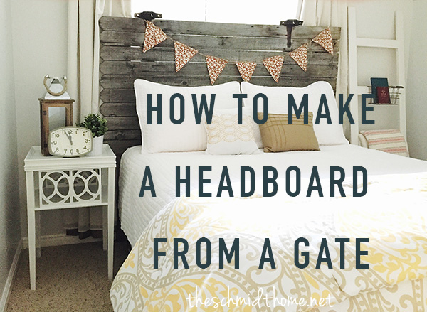 How to Make a Headboard From a Gate. Turn an old wooden gate into a queen sized headboard!