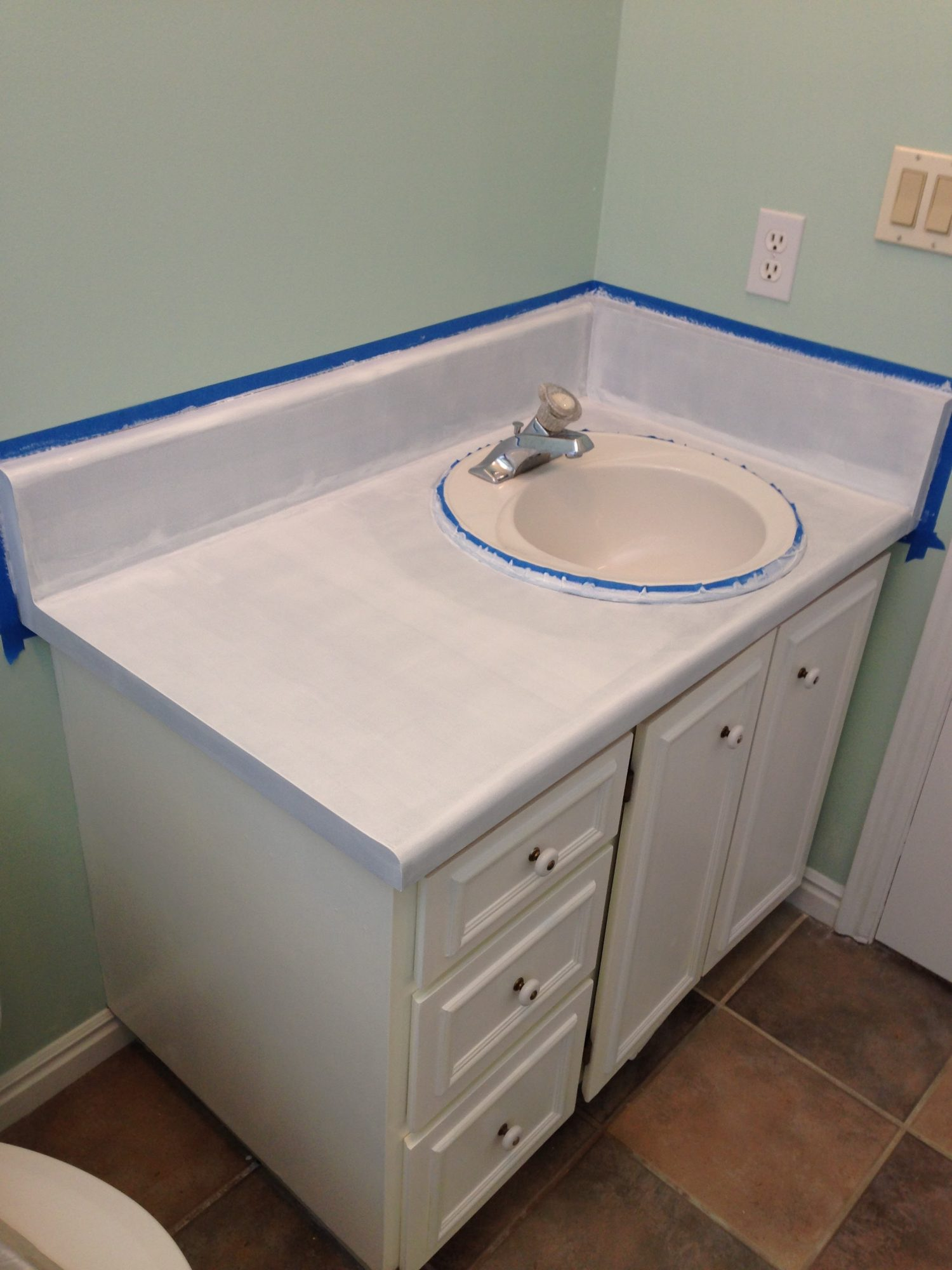 Painting Bathroom Countertops