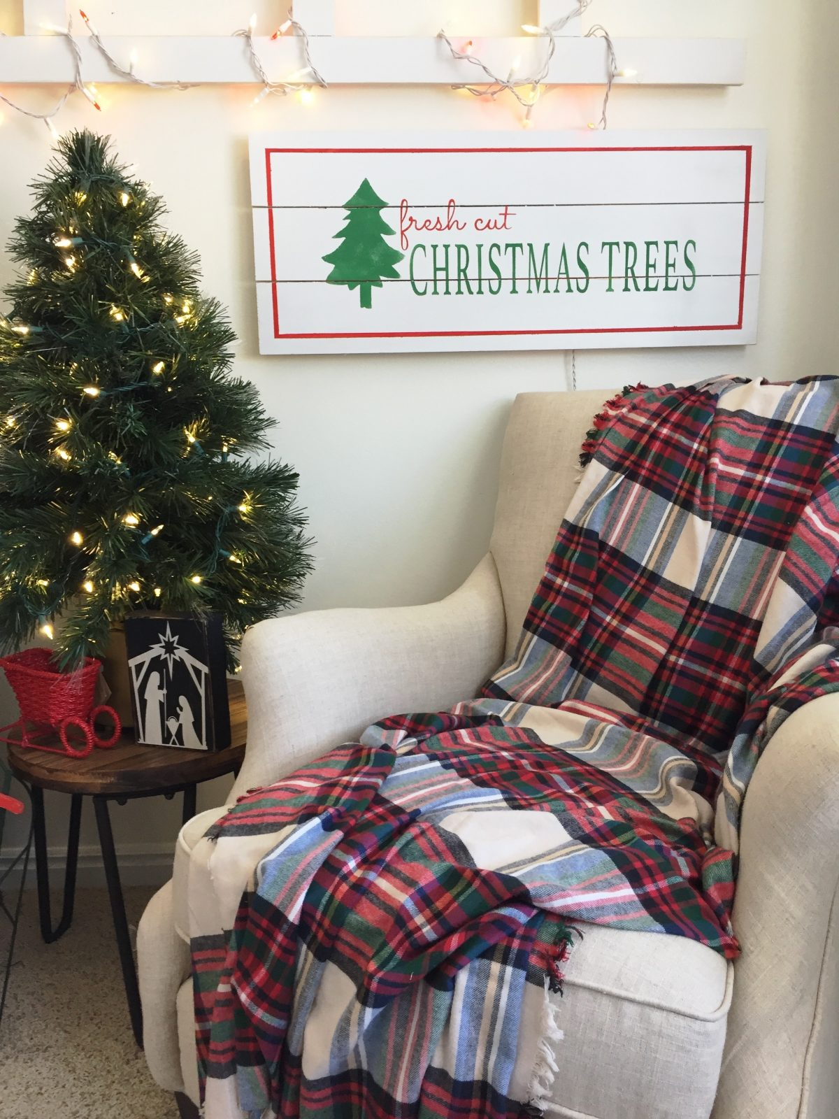 Fresh Cut Christmas Trees Sign.Fresh Cut Christmas Trees Sign Craft Night The Schmidt Home