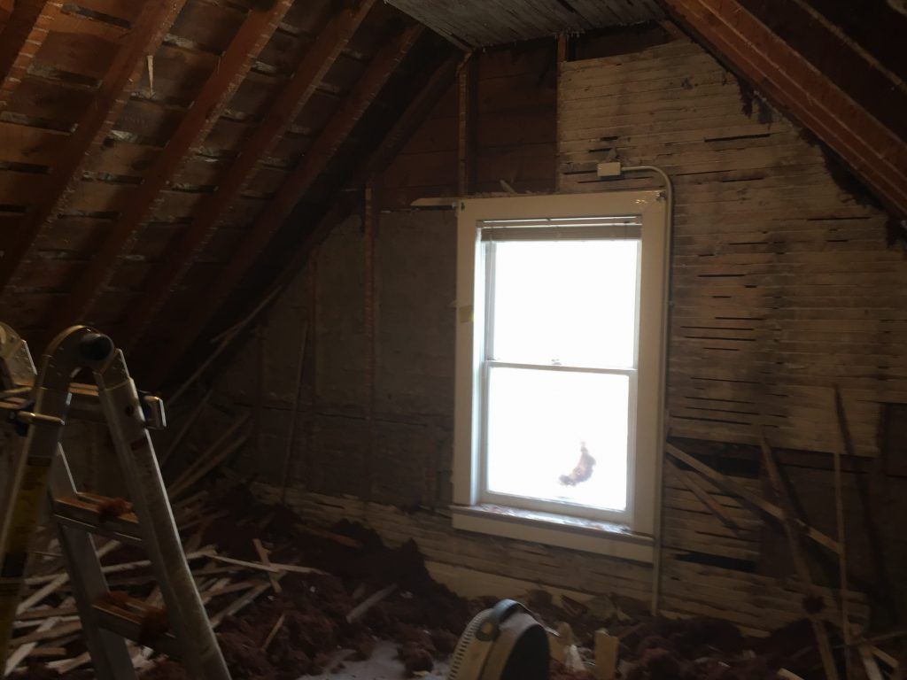 1916 Home renovations, attic bedroom