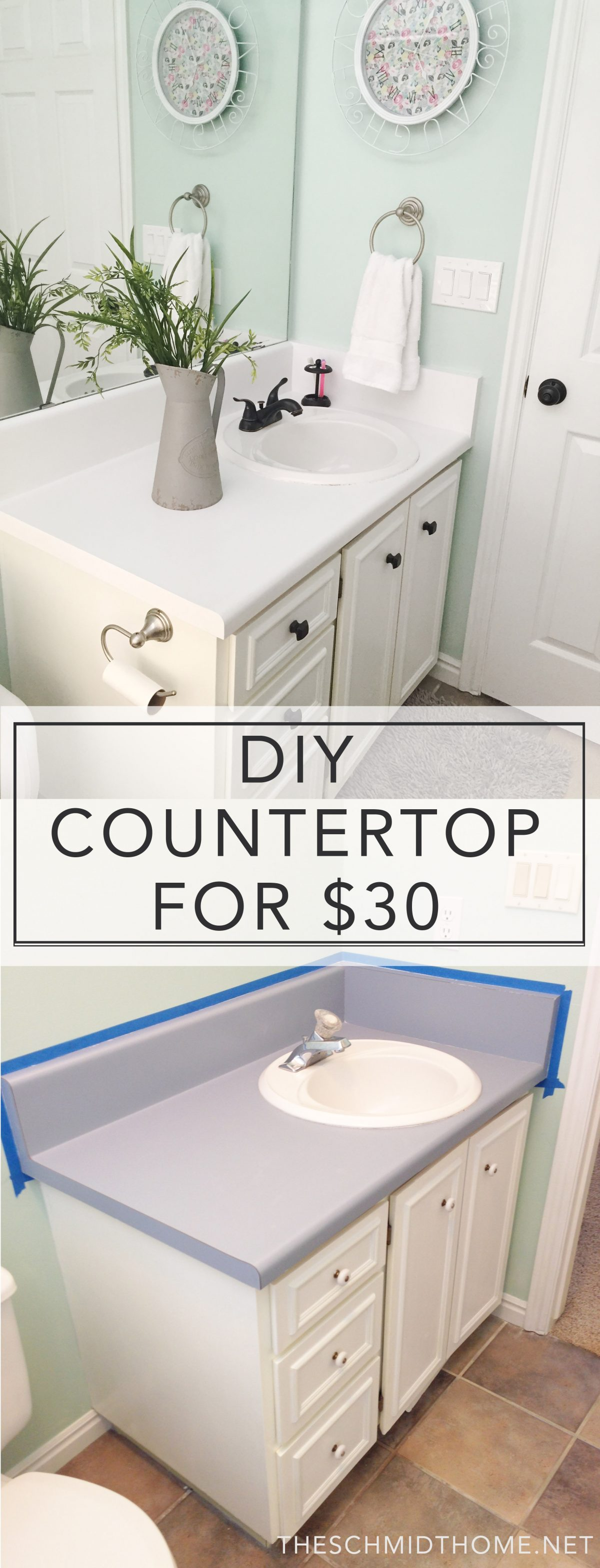 Update your countertops for less than $30 in less than a day! A tutorial and review from theschmidthome.net